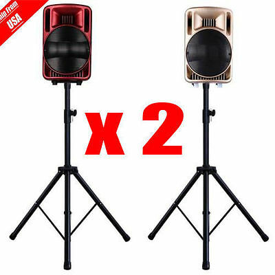 Tripod Speaker Stands Pair 110lb Load Pro Audio Stage Monitor Mount Pa DJ 2 Two 7