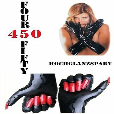 Gummi Latex Rubber Handschuhe Gloves schwarz mit roten Krallen Größe XL-(XLarge)