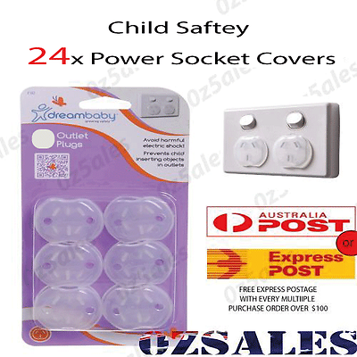 24x Baby Child Safety Power Board Covers Protective Socket Outlet Point Plug 2 2