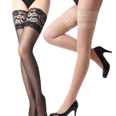 US SHIP Fashion Ladies Tights Stay Up Thigh High Stockings Lace Top Pantyhose 6