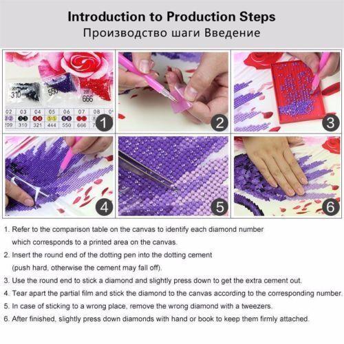 Animal DIY 5D Diamond Painting Embroidery Cross Craft Stitch Art Kit Home Decor 2