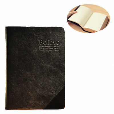 Vintage Thick Blank Paper Notebook Notepad Leather Journal Diary Sketchbook Book 5