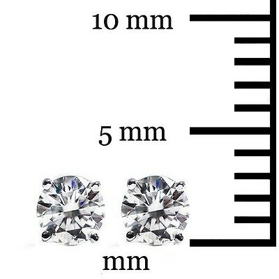 .20 Ct Solitaire Stud Earrings Round Cut 14K White Gold Screw Back pierced Deal 4