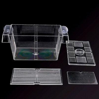 Hot Aquarium Fish Tank Guppy Double Breeding Breeder Rearing Trap Box Hatchery 7