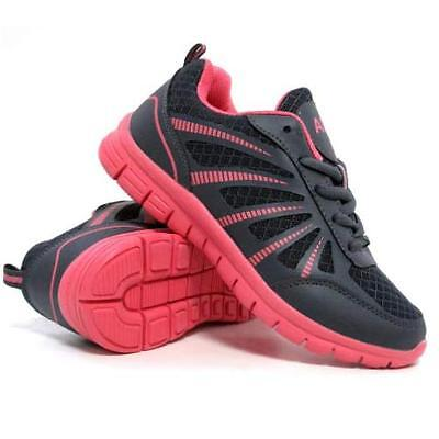 Ladies Running Trainers Womens Air Shock Absorbing Fitness Gym Sports Shoes Size 2