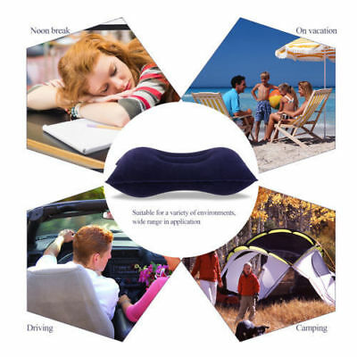 Azul Inflable Viajes Almohada Cojín Amortiguador del Coche que Acampa Grueso 2