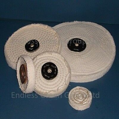 """6"""" Stitched Cotton Buffing Wheel 150mm x 40mm  Cleaning & Polishing Mop   C150/3"""