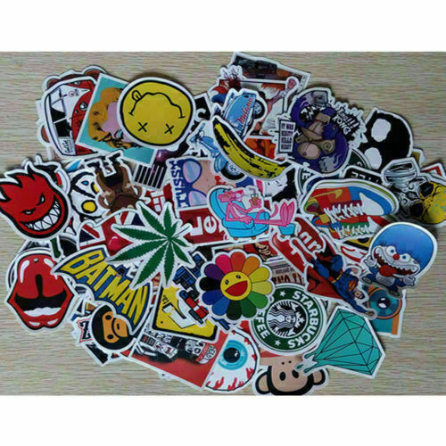 Lots100Pcs Random Bomb Vinyl Laptop Skateboard Stickers Luggage Decals Sticker 9