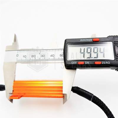 X2 Filtri RESISTENZE Corazzate CANBUS 50W-6 OHM per Lampade Led H7 SPEGNI SPIA 5