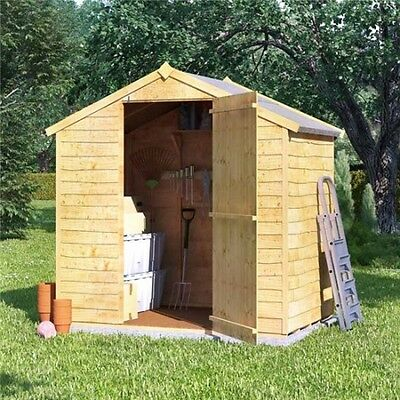 Wooden shed bike tool garden apex overlap 4x6 feet for Garden shed 4x6