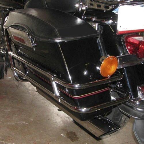Saddlebag Guard Rail Mounts Bracket For Harley Touring Electra Glide FLHT 97-08 3