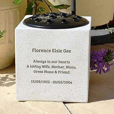Personalised Customised Memorial Graveside Flower Rose Bowl Vase Pot 4