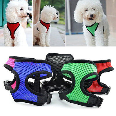 Soft Mesh Pet Harness Pet Control Walk Collar Safety Strap Dog Cat Vest CA RR 11