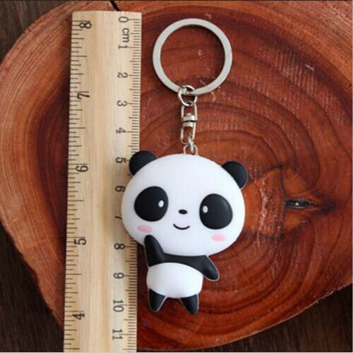 Cute Silicone Cartoon Panda Keychain Keyring Bag Kawaii Pendant Key Ring Chain 5