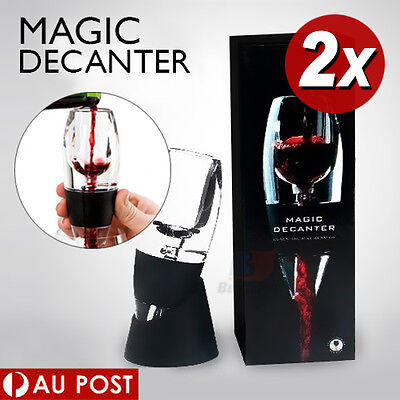 1X 2X 5X 8X 10X Magic Decanter Essential RED Wine Aerator and Sediment Filter 2