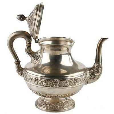Spanish Silver Teapot Coffee Pot Marked D Garcia