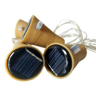 20 LED Solar Weinflasche Kork String Light Nacht Fairy Party Licht Lampe 4 Farbe 5