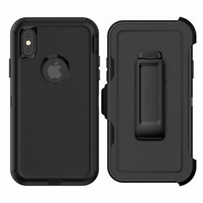 Case Cover For iPhone X  iPhone XS w /Holster Clip Hybrid Shockproof Heavy Duty 6