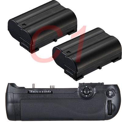 Pro Battery Grip Pack For Nikon D600 D610 DSLR as MB-D14 + 2x EN-EL15 Battery