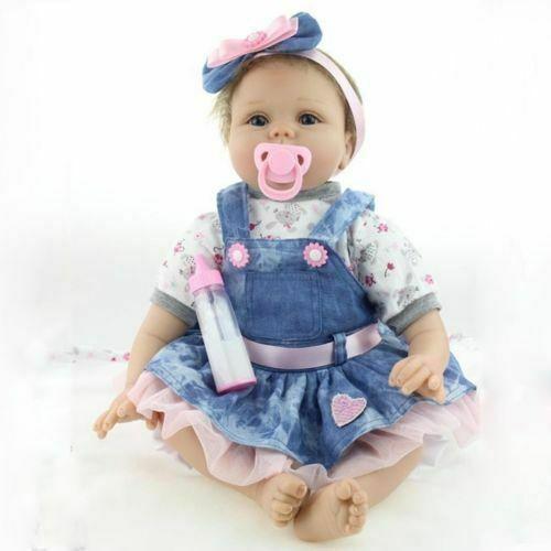 22 inch Realistic Reborn Baby Dolls Lifelike Newborn Girl Baby Doll Gifts 2