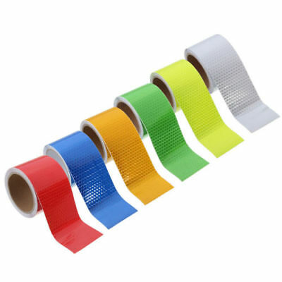 Multicolor Silver White Reflective Safety Warning Conspicuity Tape Film Sticker 2