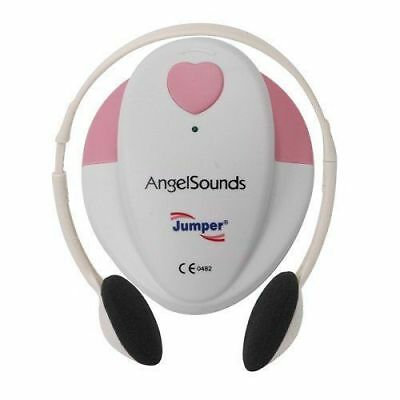 ANGELSOUNDS FETAL DOPPLER BABY HEART BEAT DETECTOR MONITOR with Headphones & Gel 2