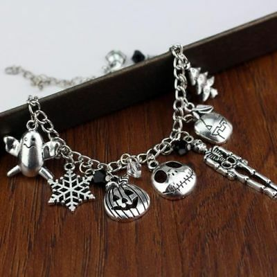 Nightmare Before Christmas Jack Skellington Sally Bracelet Gothic UK SELLER