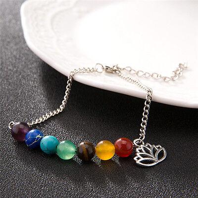 Perles bracelet Lotus Pendentif énergie yoga chaîne de la cheville bijoux