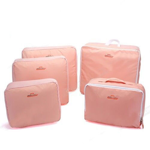5pcs Packing Cube Pouch Suitcase Storage Bags Clothes Travel Luggage Organizer 5