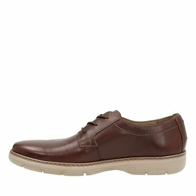 3 of 7 Clarks Watts Pace Men's Oxford Brown Leather Casual Shoes 26119637