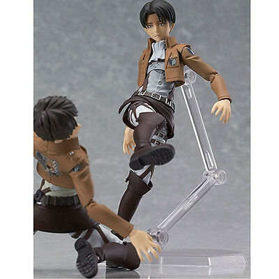 HOT Anime Shingeki No Kyojin Attack on Titan 15cm Rivaille Action Figure PVC Toy 5