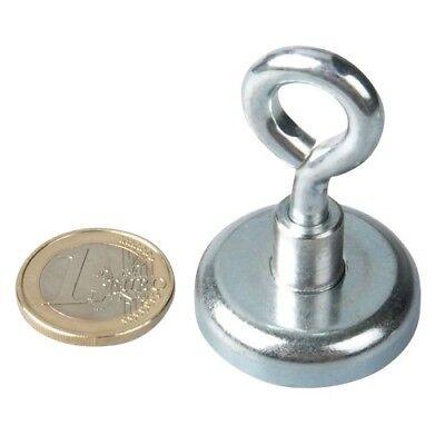 ► Starke Haftkraft Magnet mit Öse Magnetöse Neodym Ø 42 mm Topfmagnet 8 Stk