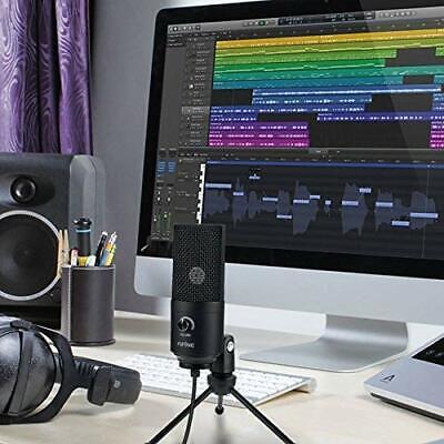 USB-Mikrofon Kondensatormikrofon für PC Laptop Aufnahmemikrofon Kardioid Studio 2