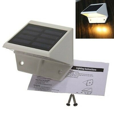 4 LED Solar Powered Stairs Fence Garden Security Lamp Outdoor Waterproof Light