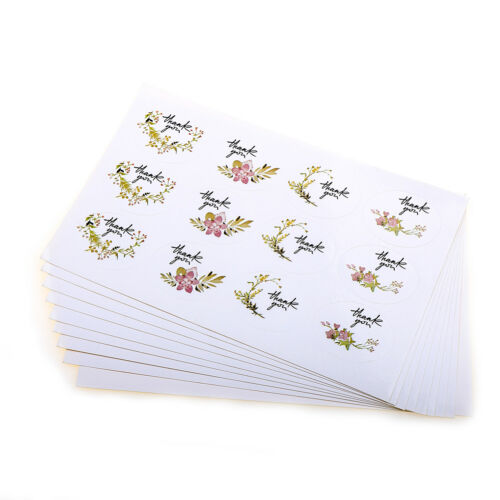 120pcs Thank you Flower Seal Stickers DIY Baking Gift Labels Adhesive Sticker Kh