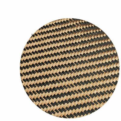 Champagne gold + Black Aramid Carbon Fiber Blended Fixed cloth 200gsm 240gsm 2