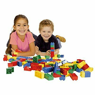 120x Mattoncini di costruzione, Cestino per mattoni da gioco, Ideale per bambini 2