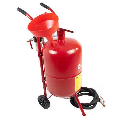 10 Gallon 37 Litre Workshop Garage Bead Grit Pot Blasting Portable Sand Blaster