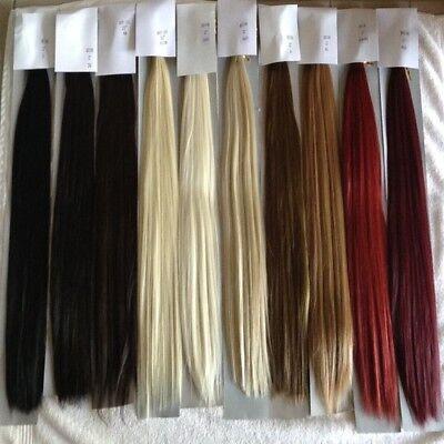 Ash pale golden dark blonde brown silver white Hair Extension Clip in feel Human 4
