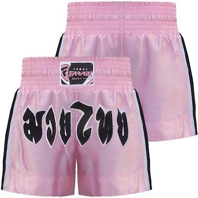 Size: XS Kids - XL Adults PINK DUO /'CHOK DEE/' MUAY THAI BOXING FIGHTER TRUNKS