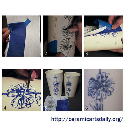 Graffito Underglaze Tracing Paper Ceramic Pottery Bisque Transfer