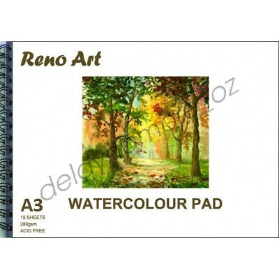 A3 Watercolour Pad 280gsm Atrist Painting Art Paper Sketchbook Sketch Drawing 7