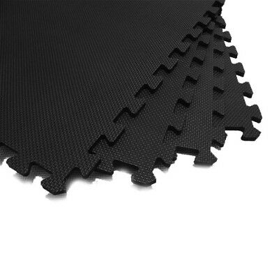 Black Interlocking Eva Soft Foam Exercise Floor Mats Gym Garage House Office Mat 5
