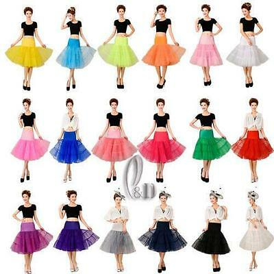 "AU SELLER 26"" Retro 50s Underskirt Rockabilly Bridal Petticoat Dance Tutu da018 3"