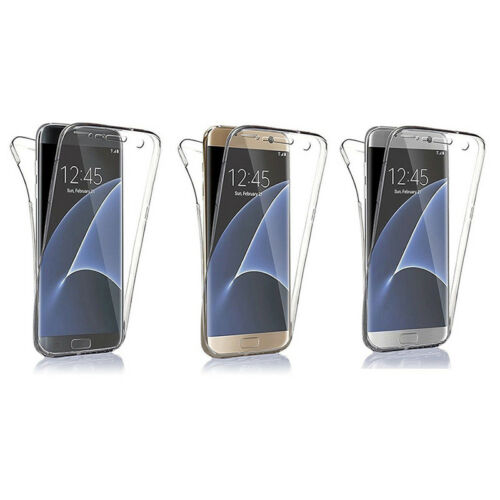 360°Silikon tective Clear Case Cover For Samsung Galaxy S6 S7 S7 Edge S8-S8+ 3