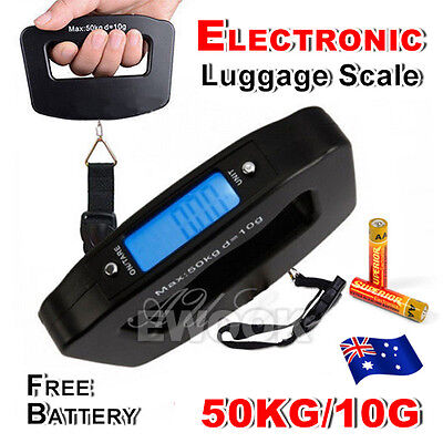 Electronic Digital Portable Scale Luggage Weight Hanging Travel 50 KG 10G AU 2