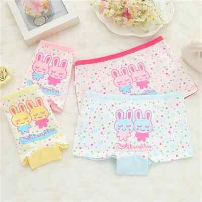 6 Pack Girls Boxer Shorts Underwear Briefs Cotton Knickers Age 2-10 Years 4