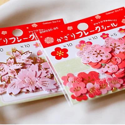 40x popular Japanese Cherry/Plum Flowers Craft Scrapbooking Sakura sticker DIY 6