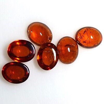 15.36 Cts Natural Fanta Orange Mandarin Spessartite Garnet Oval Cab Lot Namibia