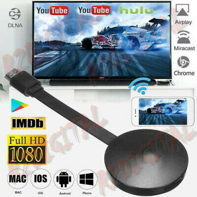 Display Dongle Hdmi Wireless Chromecast Google Mirascreen Media Video Stream Hd 4